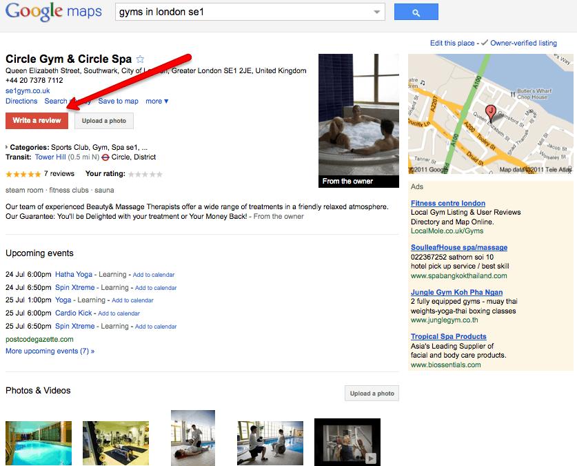 circle gym - google maps